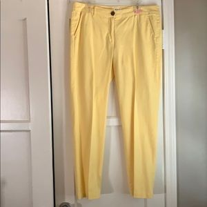 Cabi yellow coast crop trouser, NWOT. Size 12